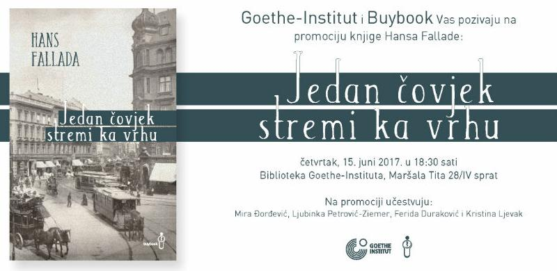 Goethe-Institut i Buybook vas pozivaju na promociju knjige Hansa Fallade