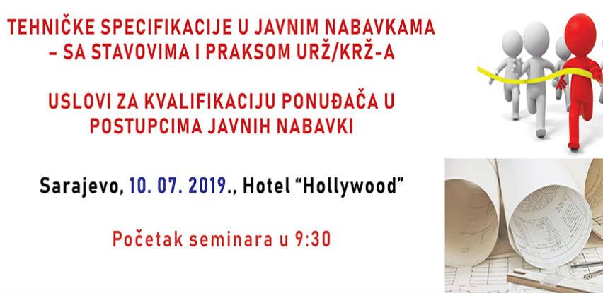 Rec seminar: Tehničke specifikacije u javnim nabavkama
