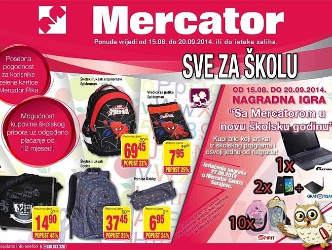 'Sve za školu' u Mercatoru i DP Marketima uz nagradnu igru