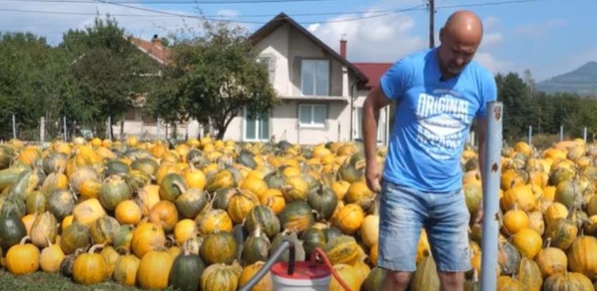 Vitez: Usisavačem usisao koštice iz 150 tona tikve