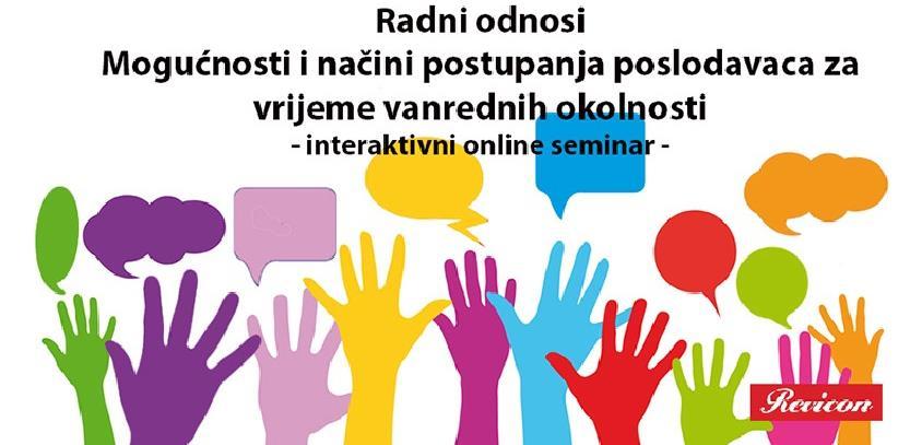 "Revicon online interaktivni seminar ""Radni odnosi"""