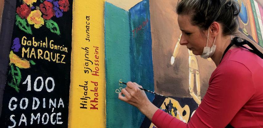 Tuzlanska umjetnica neobičnim muralom privukla pažnju sugrađana