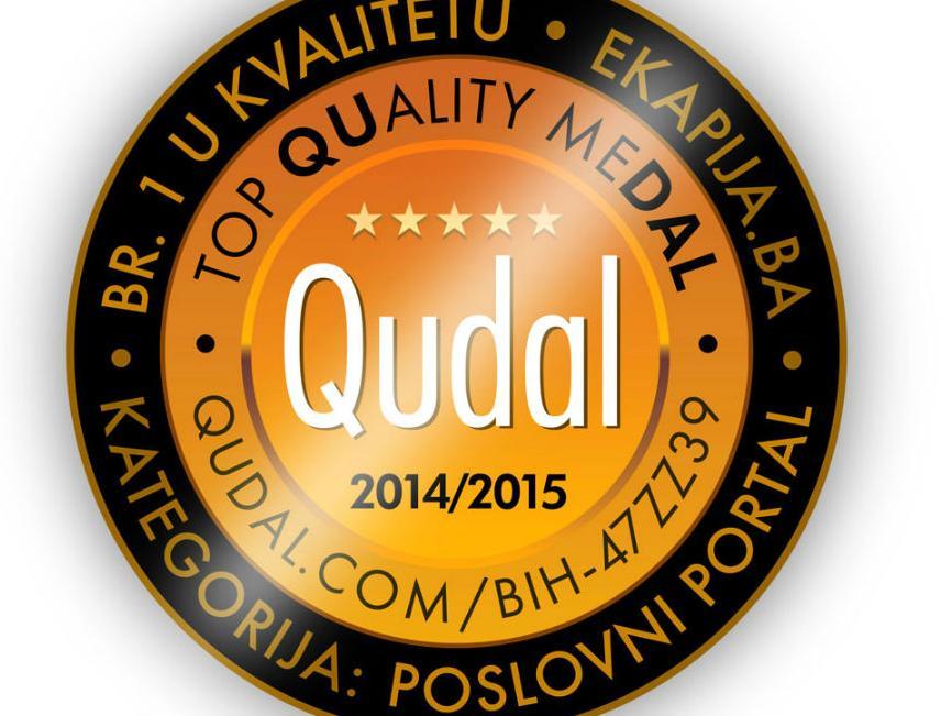 QUDAL - TOP QUality meDAL: eKapija.ba najkvalitetniji poslovni portal u BiH
