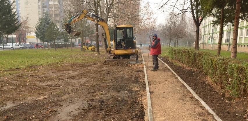 U toku radovi na izgradnji novih pješačkih staza u općini Novo Sarajevo