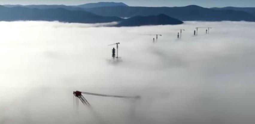 Ovako izgleda Pelješki most iz zraka (Video)
