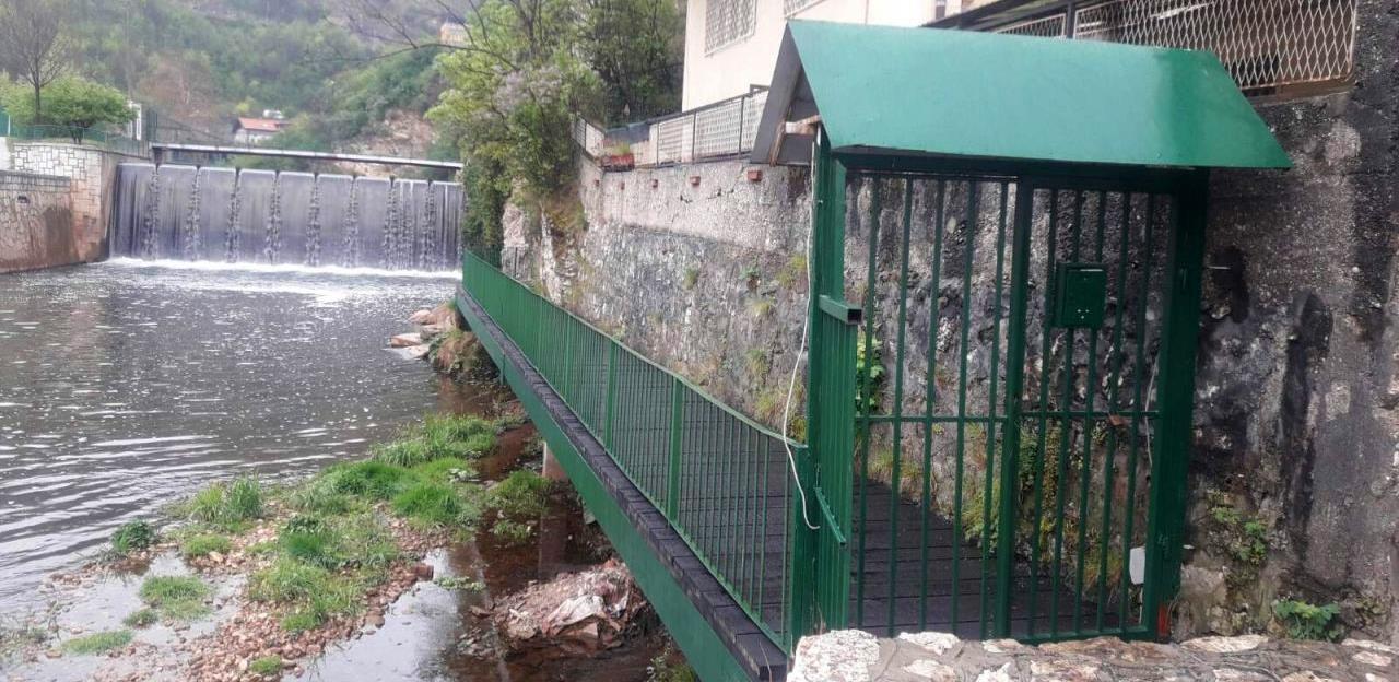Saniran most između ulice Toplik i skloništa Bentbaša