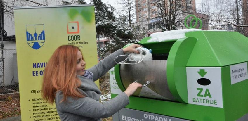 Postavljeni prvi specijalni kontejneri za e-otpad u BiH