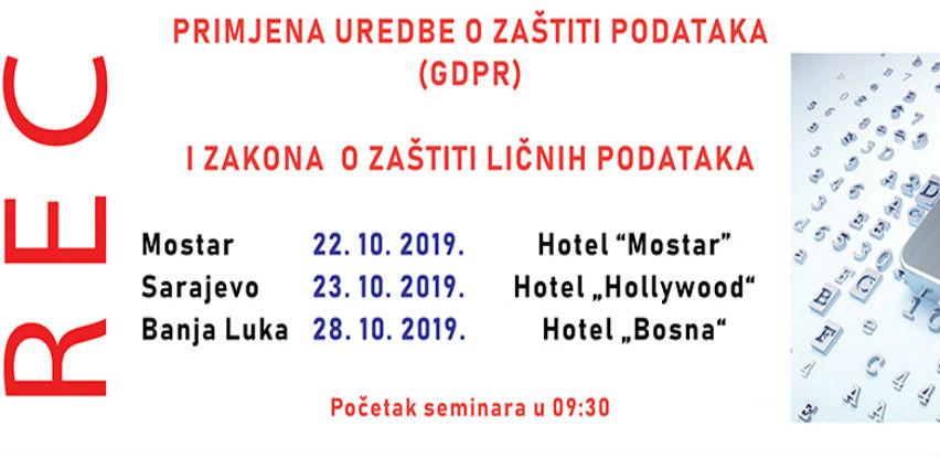 REC seminar: Zaštita podataka GDPR