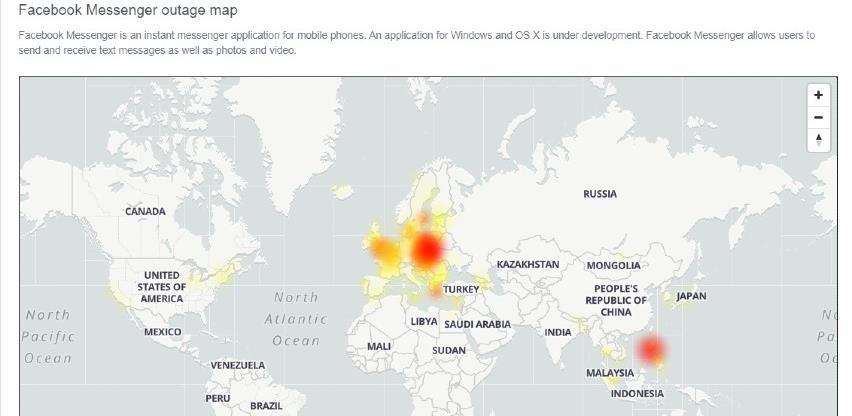 Pao Facebook Messenger širom Evrope