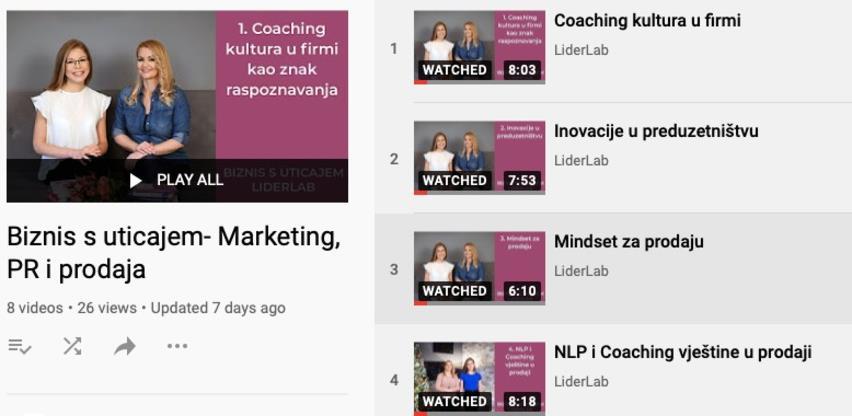 Završen YouTube serijal 'Biznis s uticajem' - Marketing, PR i prodaja