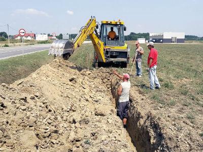 """Započela izgradnja vodovodne mreže u poduzetničkoj zoni """"Sjever"""""""