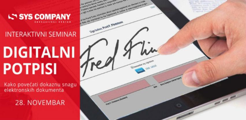 SYS seminar: Digitalni potpisi