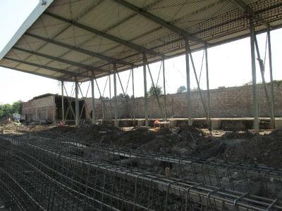 Počela izgradnja tribina i službenih prostorija na stadionu Borca