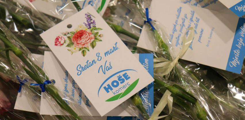 Cvijećem i motivacionim porukama Hoše komerc čestitao ženama 8. mart