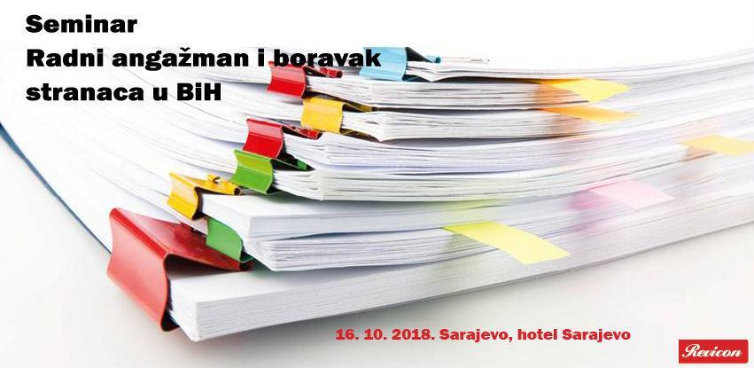 Revicon seminar: Radni angažman i boravak stranaca u BiH