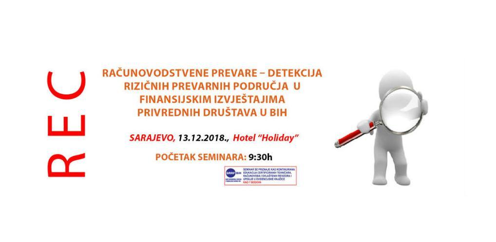 REC seminar o detekciji računovodstvenih prevara