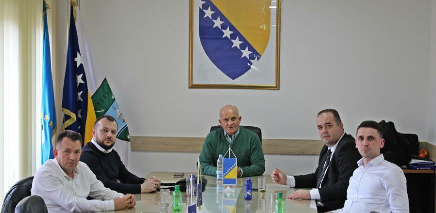 Načelnik Džafić s kantonalnim ministrom poljoprivrede Šakićem