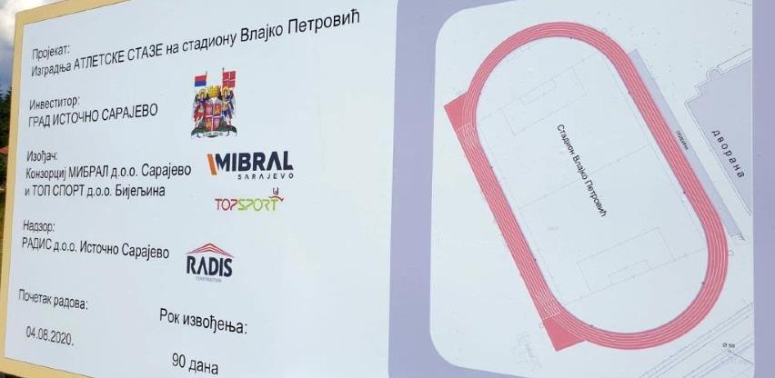 Stadion Vlajko Petrović na Palama dobit će certifikovanu atletsku stazu