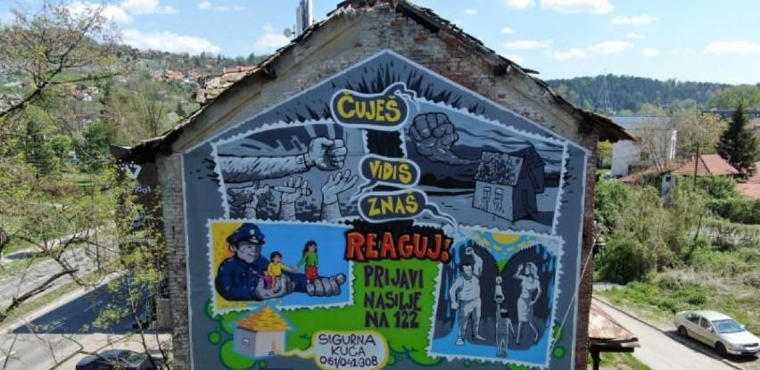 Tuzla dobila prvi mural posvećen žrtvama nasilja u porodici