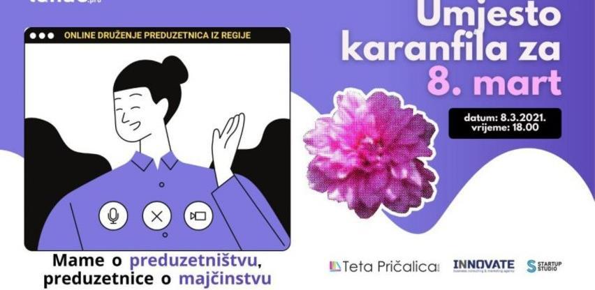 Online druženje mama – preduzetnica iz regije