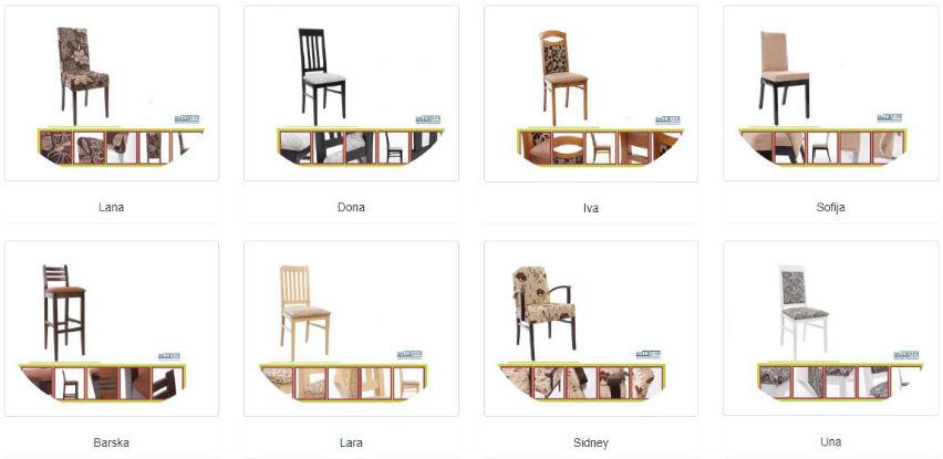 SinCroEr nudi veliki izbor stolica