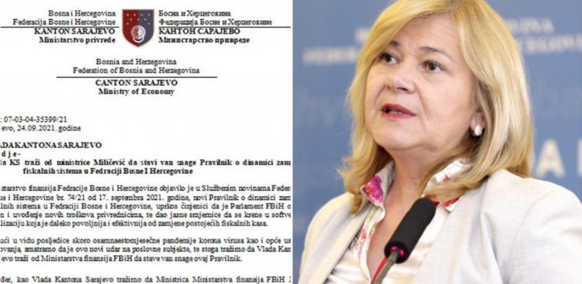 Vlada KS zatražila od ministrice Jelke Miličević da poništi odluku o zamjeni fiskalnih kasa