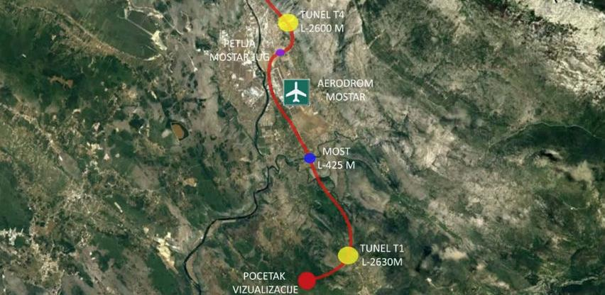 Objavljen tender za izradu glavnog projekta dionice Mostar jug - Tunel Kvanj