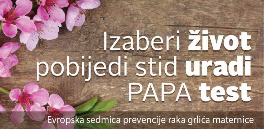 """Hadžifejzović u kampanji """"Izaberite život, pobijedite stid, uradite PAPA test"""""""