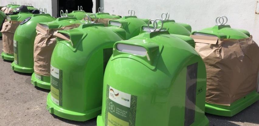 Općini Konjic isporučeno 40 specijalnih kontejnera za reciklažu stakla