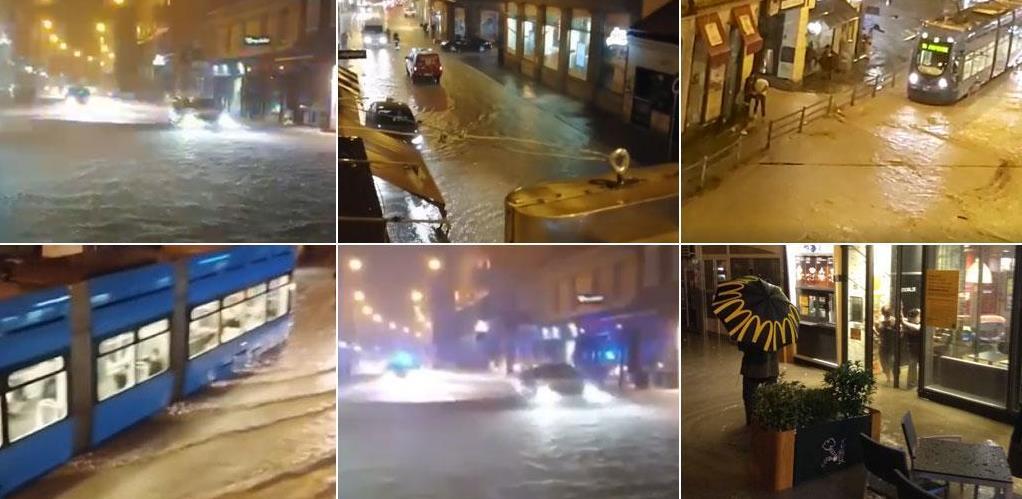 Nevrijeme nad Hrvatskom, potop paralizirao Zagreb!