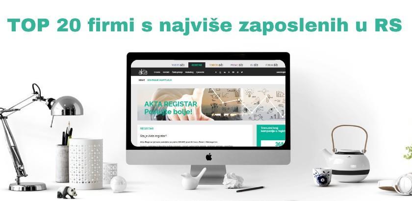 TOP 20 firmi s najviše zaposlenih u RS: Šume Srpske prednjače po broju radnika