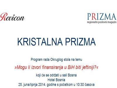 Sutra ceremonija dodjele nagrada Kristalna prizma