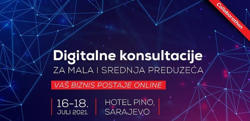"""""""Collaborathon"""": Digitalne konsultacije za mala i srednja preduzeća od 16. do 18. jula u Sarajevu"""