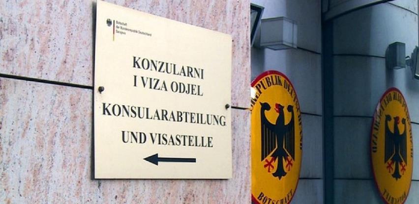 Odjel za vize Njemačke ambasade neće raditi u narednom periodu