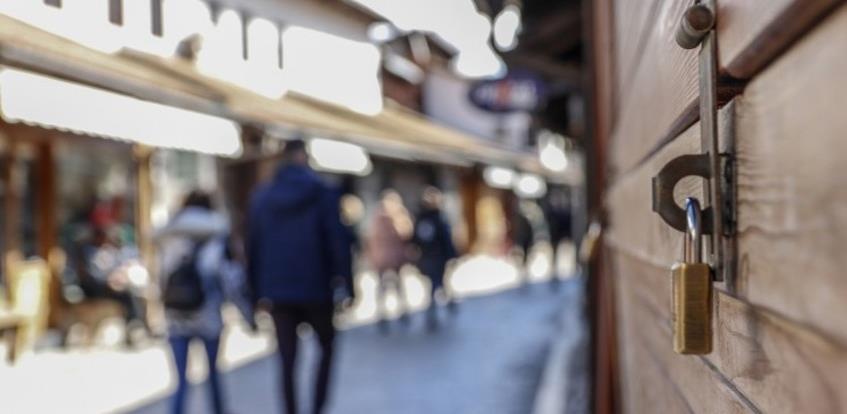 Mnogi poslovni subjekti u Kantonu Sarajevo ne rade zbog zabrane