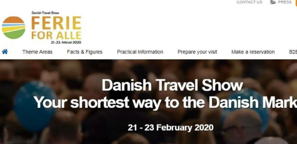 """Poziv za sudjelovanje na sajmu turizma """"Danish Travel Show"""""""