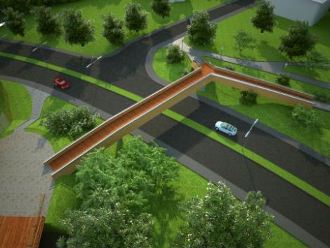 Projekat izgradnje pješačkog mosta između Gradskog parka i Panonskih jezera