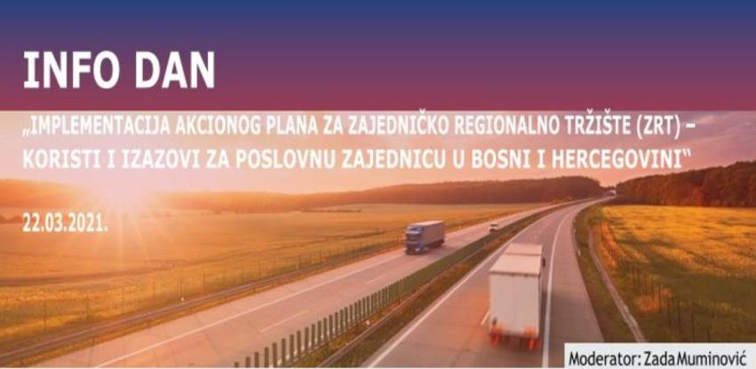Online info dan 'Implementacija Akcionog plana za Zajedničko regionalno tržište'