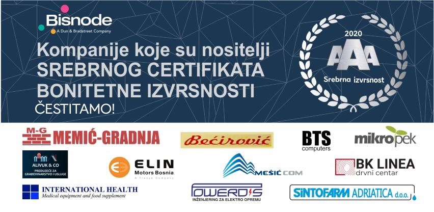 Bisnode certifikat bonitetne izvrsnosti - potvrda zdravog načina poslovanja