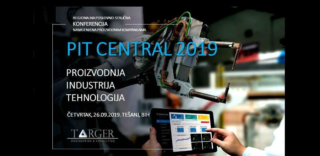Regionalna PIT CENTRAL 2019 konferencija 26. septembra u Tešnju