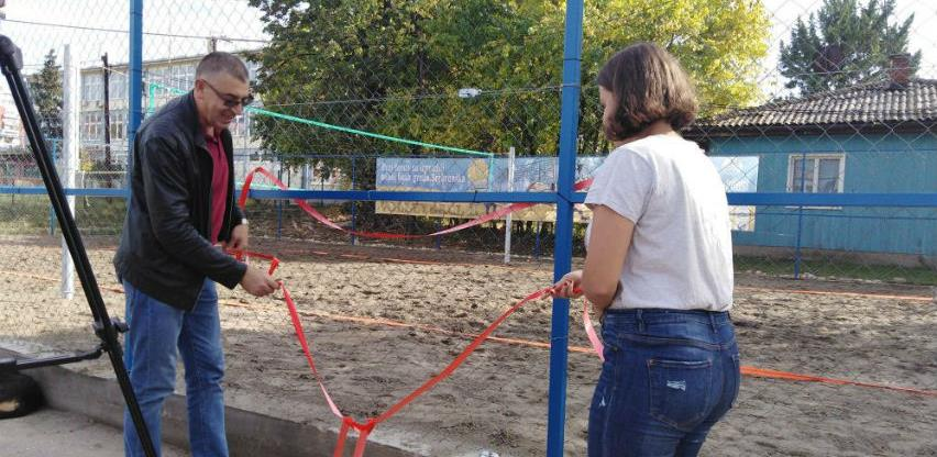 U Srebreniku otvoren rekonstruisani teren za odbojku na pijesku