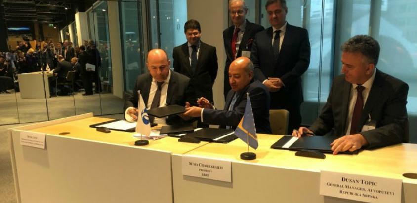 Potpisan sporazum s EBRD-om u iznosu od 750 miliona eura za 70 km autoputa