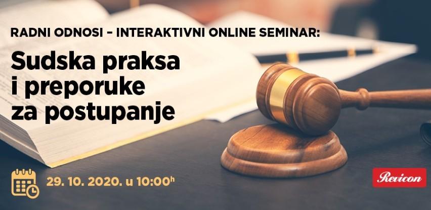 Interaktivni online seminar: Sudska praksa i preporuke za postupanje