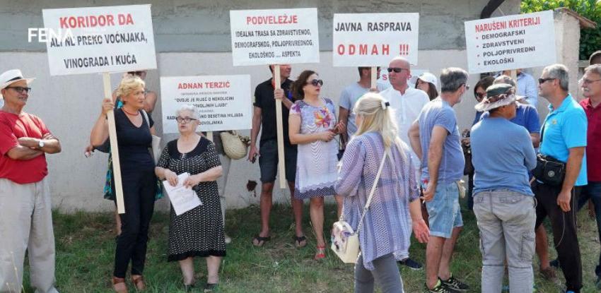 Mještani južnih dijelova Mostara traže promjenu trase koridora Vc