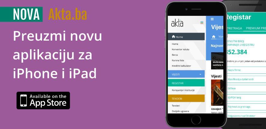 Nova verzija Akta iOS aplikacije dostupna na App Store-u