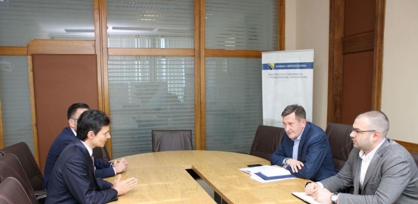 Mitrović razgovarao s ambasadorom Italije u BiH o funkcioniranju transporta s EU