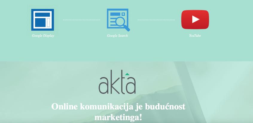Novo na Akta.ba: Odaberite svoju prvu Google kampanju