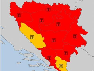 Paklene vrućine tokom vikenda u čitavom regionu, požari pod kontrolom
