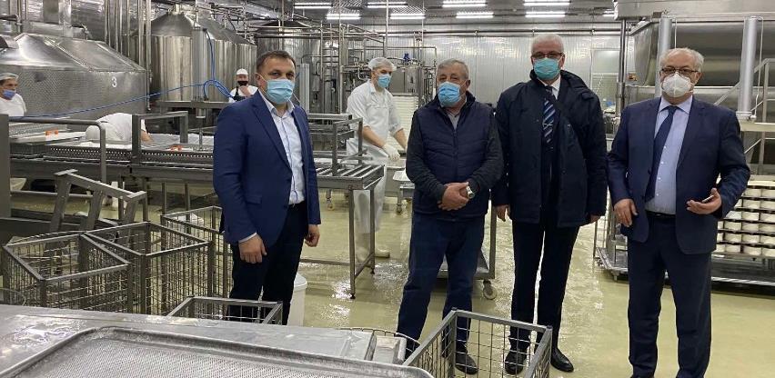 Ministar Dedić u posjeti SBK i travničkoj kompaniji Poljorad: Investicije u nove proizvodne pogone