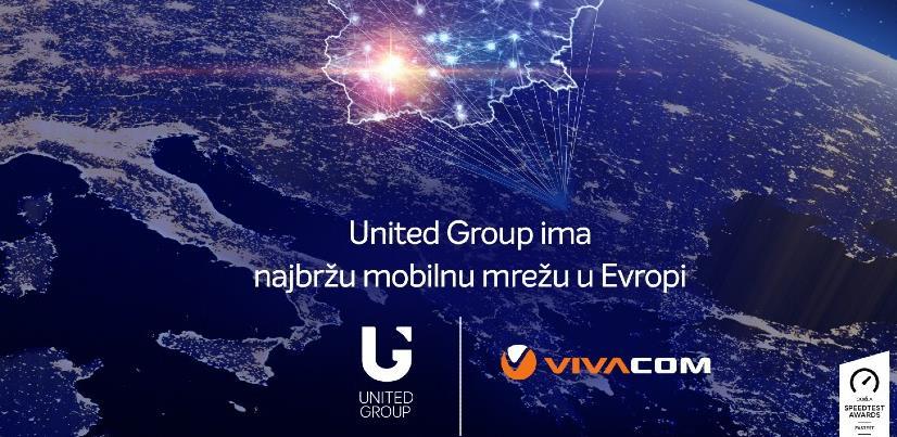 United Grupa ima najbržu mobilnu mrežu u Evropi